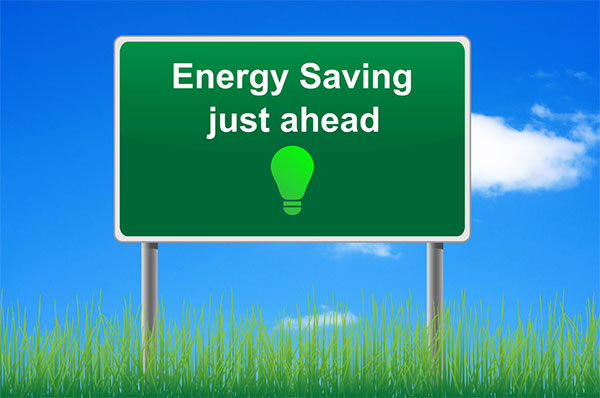 Energy Savings Ahead Sign
